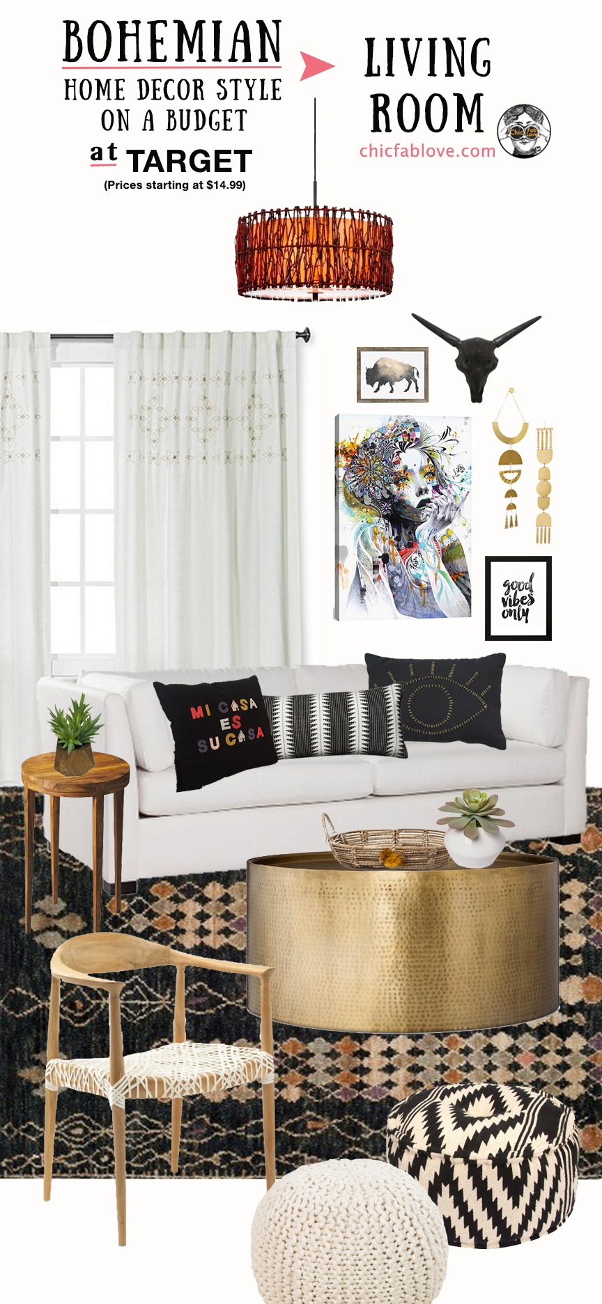 Bohemian Home Decor Style On A Budget At Target Chic Fab Love